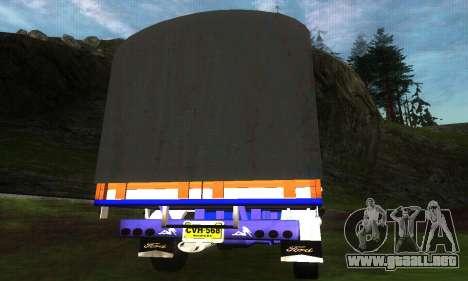 Ford Transit Stylo Colombia para GTA San Andreas vista posterior izquierda