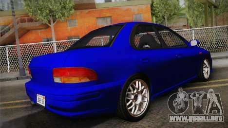 Subaru Impreza WRX STI GC8 1999 v1.0 para GTA San Andreas left
