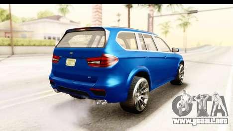 GTA 5 Benefactor XLS para GTA San Andreas left