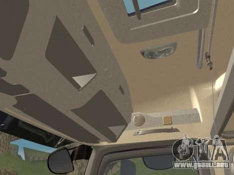 Mercedes-Benz Actros Mp4 4x2 v2.0 Gigaspace para vista inferior GTA San Andreas