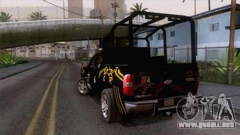 Chevrolet Silverado de la Fuerza Coahuila para GTA San Andreas left