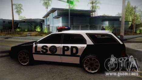 Stratum LSPD para GTA San Andreas vista posterior izquierda