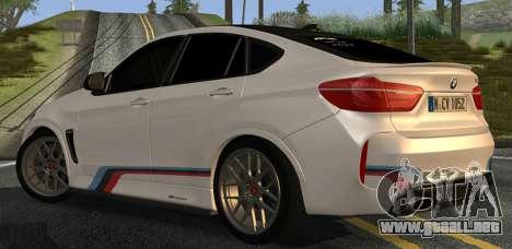 BMW X6M PML ED para la visión correcta GTA San Andreas