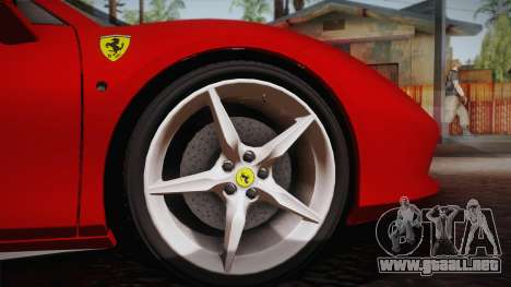 Ferrari 488 Spider para GTA San Andreas vista hacia atrás