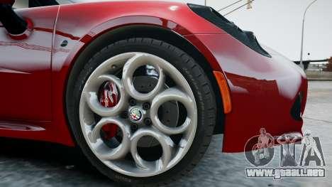 Alfa Romeo 4C 2016 para GTA 4 vista interior