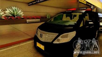Toyota Alphard Taxi Silver Bird para GTA San Andreas