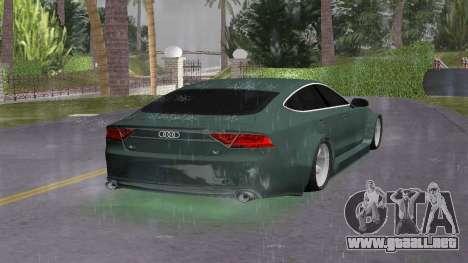 Audi A7 Sportback para GTA Vice City vista lateral izquierdo