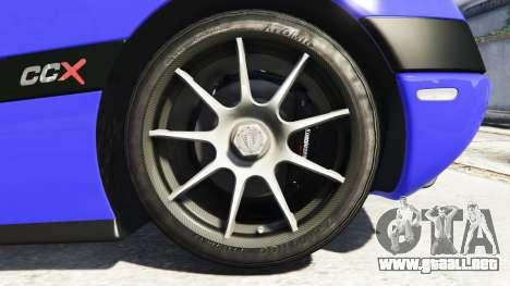 GTA 5 Koenigsegg CCX 2006 [Autovista] v2.0 [add-on] vista lateral trasera derecha