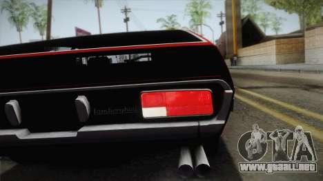 Lamborghini Espada S3 39 1972 para GTA San Andreas vista hacia atrás