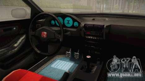 Honda Integra Type R para visión interna GTA San Andreas