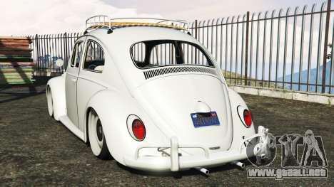 GTA 5 Volkswagen Fusca 1968 v1.0 [add-on] vista lateral izquierda trasera