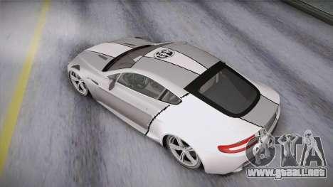 NFS: Carbon TFKs Aston Martin Vantage para visión interna GTA San Andreas