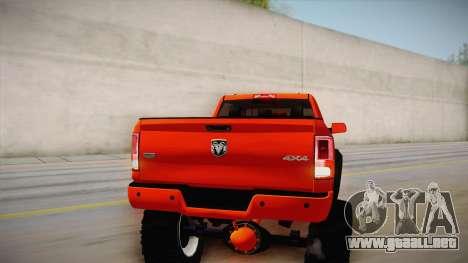 Dodge Ram 2500 Lifted Edition para la vista superior GTA San Andreas