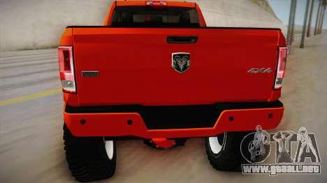 Dodge Ram 2500 Lifted Edition para la visión correcta GTA San Andreas