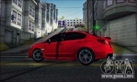 Subaru WRX 2015 para GTA San Andreas vista posterior izquierda