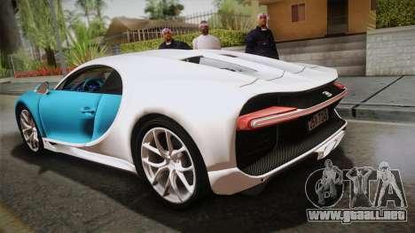 Bugatti Chiron 2017 v2.0 Korean Plate para GTA San Andreas left