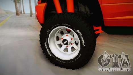 Dodge Ram 2500 Lifted Edition para GTA San Andreas vista hacia atrás