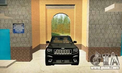 Jeep Cherokee SRT 8 para visión interna GTA San Andreas