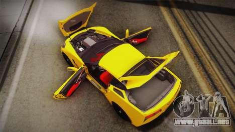 Chevrolet Corvette Stingray 2015 para GTA San Andreas interior