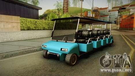 Caddy Limo para GTA San Andreas vista posterior izquierda