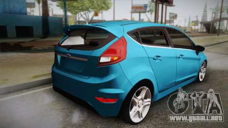 Ford Fiesta Kinetic Design para GTA San Andreas left