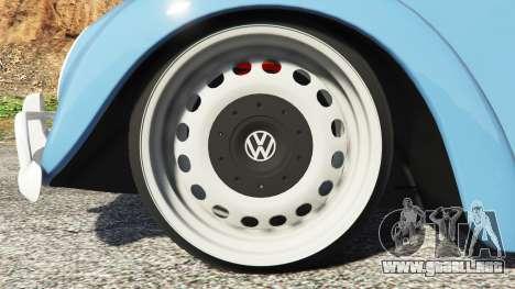 GTA 5 Volkswagen Fusca 1968 v0.9 [replace] vista lateral trasera derecha