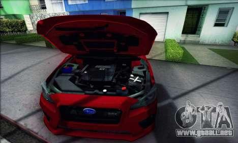 Subaru WRX 2015 para la visión correcta GTA San Andreas