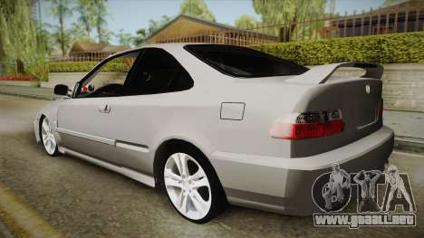 Honda Civic Coupe DX 1995 para GTA San Andreas left