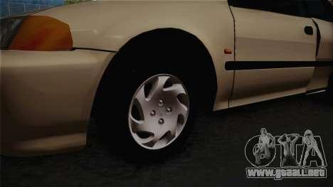 Honda Civic Sedan EX 1993 para GTA San Andreas vista hacia atrás