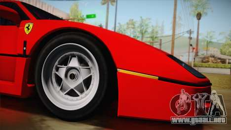 Ferrari F40 (US-Spec) 1989 HQLM para GTA San Andreas left