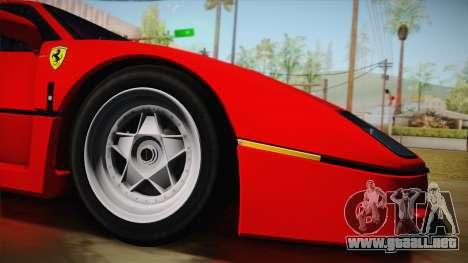 Ferrari F40 (US-Spec) 1989 HQLM para GTA San Andreas left