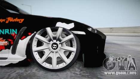 Mazda RX-8 VIP Stance Shimakaze Itasha para GTA San Andreas vista posterior izquierda