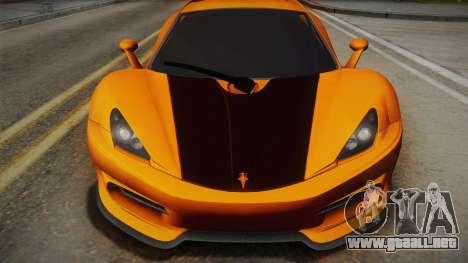 HTT Plethore LC750 2012 para GTA San Andreas vista posterior izquierda