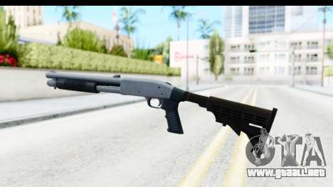 Tactical Mossberg 590A1 Chrome v4 para GTA San Andreas segunda pantalla