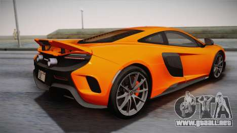 McLaren 675LT 2015 10-Spoke Wheels para GTA San Andreas left