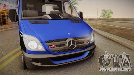 Mercedes-Benz Sprinter 2012 Midwest Ambulance para GTA San Andreas vista posterior izquierda