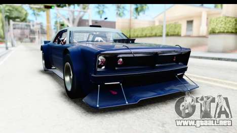 GTA 5 Declasse Tampa Drift para GTA San Andreas vista posterior izquierda