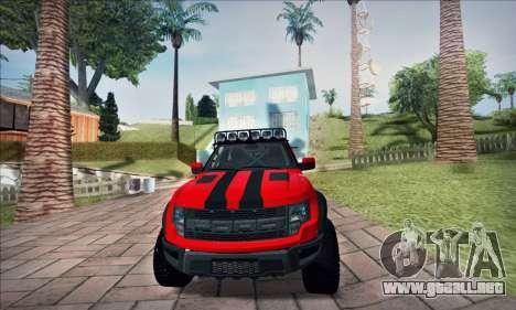 Ford F150 Raptor Long V12 para la visión correcta GTA San Andreas