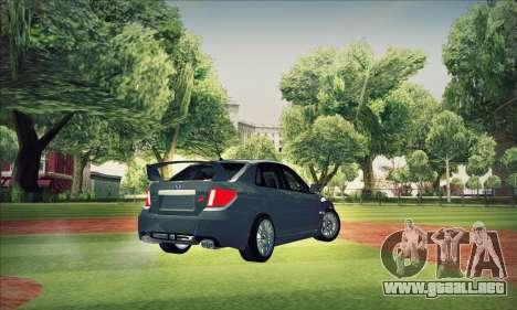 Subaru Impreza WRX STI 2011 para la vista superior GTA San Andreas