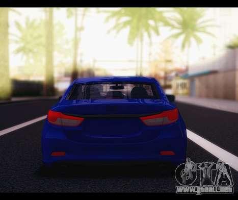 Mazda 6 Stance para la visión correcta GTA San Andreas