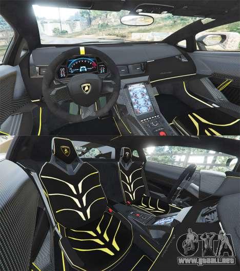 GTA 5 Lamborghini Centenario LP770-4 2017 [replace] vista lateral trasera derecha