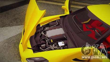 Chevrolet Corvette Stingray 2015 para la vista superior GTA San Andreas