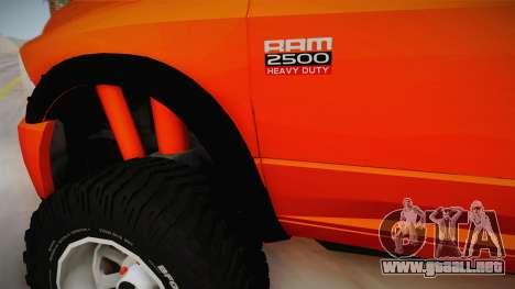 Dodge Ram 2500 Lifted Edition para vista lateral GTA San Andreas