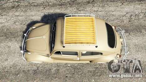 GTA 5 Volkswagen Fusca 1968 v0.8 [replace] vista trasera