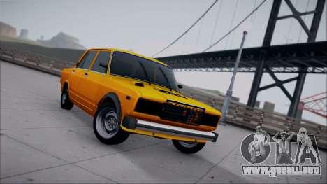 VAZ 2105 parche 1.1 para GTA San Andreas vista hacia atrás