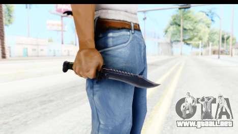 CS:GO - Bowie Knife para GTA San Andreas tercera pantalla