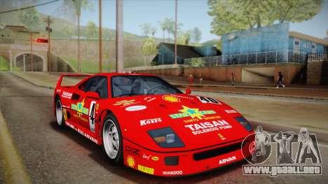 Ferrari F40 (US-Spec) 1989 HQLM para la vista superior GTA San Andreas
