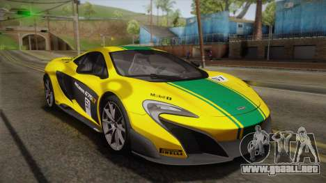 McLaren 675LT 2015 10-Spoke Wheels para GTA San Andreas interior