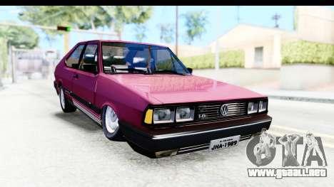 Volkswagen Passat Pointer GTS 1.8 1988 para la visión correcta GTA San Andreas