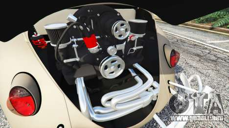 GTA 5 Volkswagen Fusca 1968 v0.8 [replace] vista lateral trasera derecha